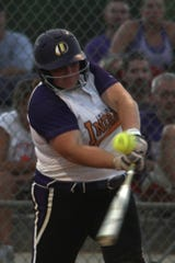 Indianola senior Brooke Tucker drives in two runs in the bottom of the seventh inning against Southeast Polk.