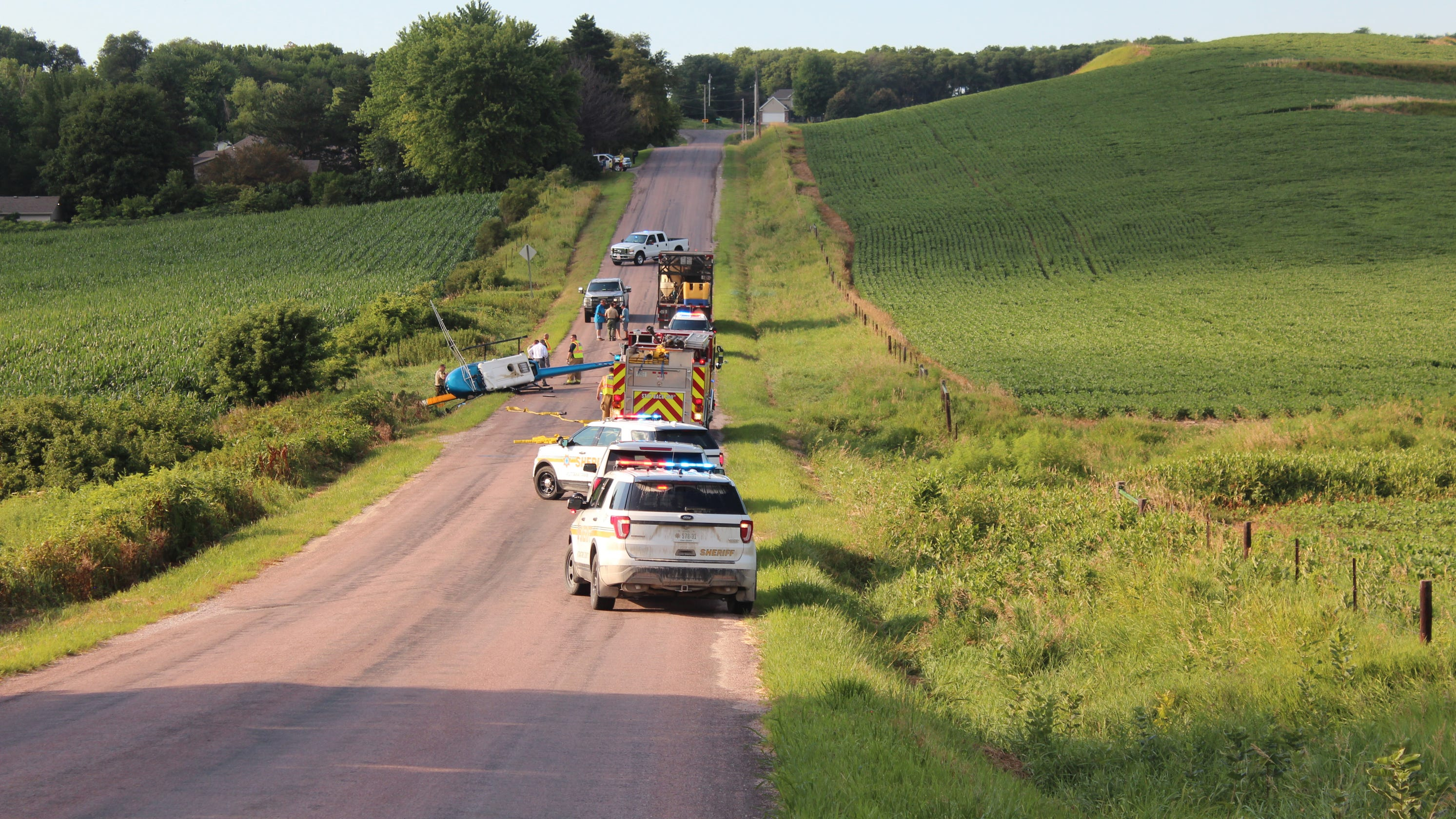 Iowa helicopter crash leaves one with minor injuries