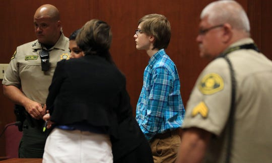 A Scott County jury found 13-year-old Luke Andrews guilty of carrying weapons on school grounds, assault while using or displaying a dangerous weapon, and assault with intent to commit serious injury Wednesday, July 17, 2019. He initially faced the more serious charge of attempted murder.