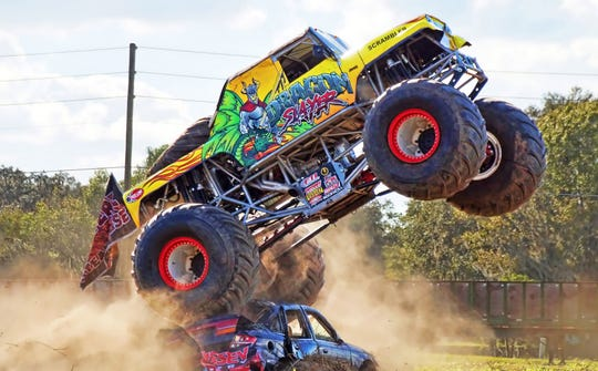 All-Star Monster Truck the Dragon Slayer, driven by 27-year veteran Kreg Christensen from Utah, will drive his Jeep in this year's Warren County Fair grandstand show Thursday night.