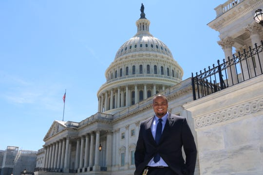 Former Michigan football player, and current graduate assistant, Grant Newsome spent the summer as an intern for U.S. Rep Debbie Dingell in Washington D.C.
