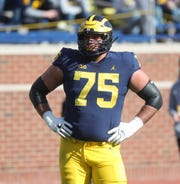 Michigan offensive lineman Jon Runyan Jr.