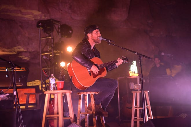 Country artist Kip Moore performs at Cumberland Caverns on April 27, 2019, in McMinnville, Tenn.