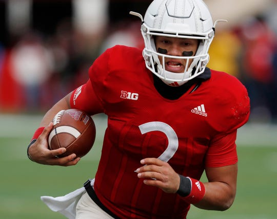 Nebraska quarterback Adrian Martinez is a rising star and his coach, Scott Frost, said he didn't hesitate to bring the sophomore with him to Big Ten Conference media days in Chicago. Martinez is one of only four sophomores who will be speaking at the event.