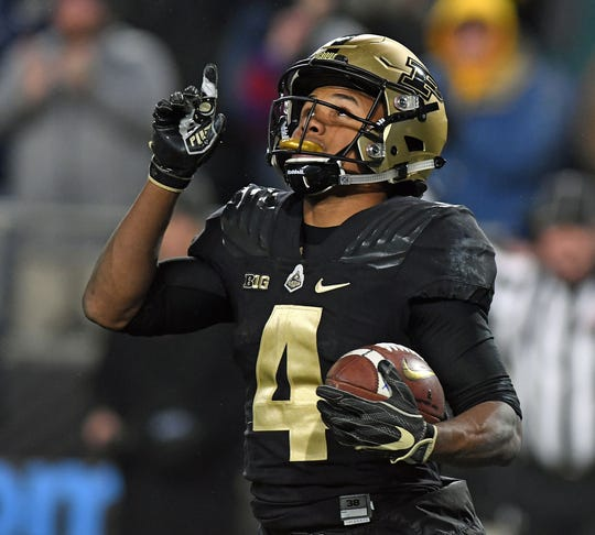 Purdue's Rondale Moore broke the 100-reception barrier as a freshman.