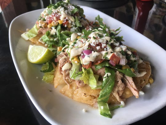 Smoked Pork Tostadas is a new item on the menu at HopCat