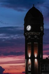 Chelsea's clock tower at sunset, by James Glisson.