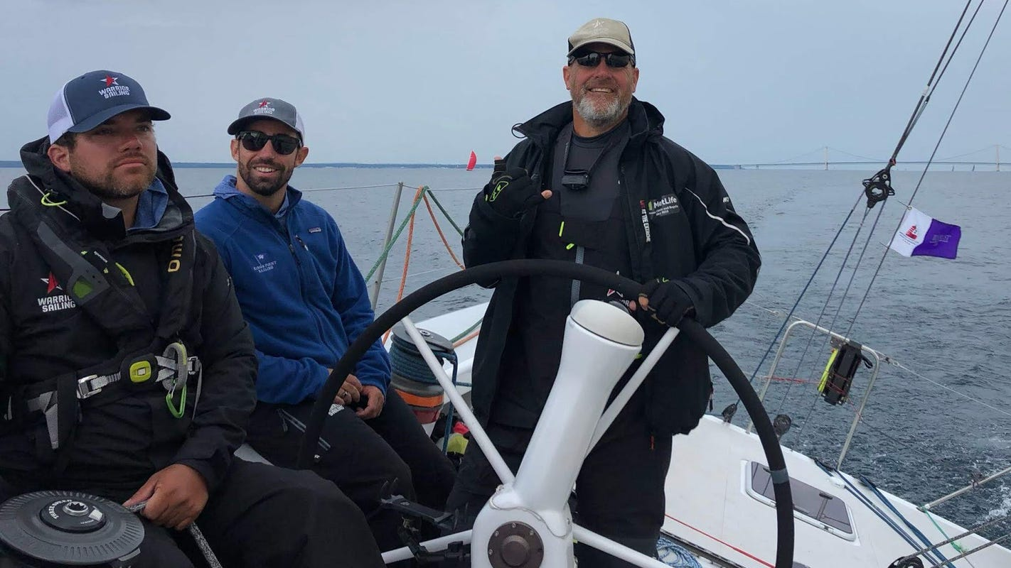Military veteran finds peace of mind, 'purpose to live' through sailing