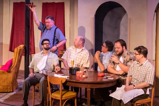 """A scene from the just-closed production of """"The Odd Couple"""" at the Jewish Ensemble Theatre. Their next production will be """"Ain't Misbehavin',"""" opening Aug. 2."""