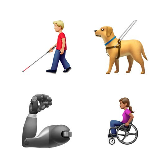 New emojis released by Apple.