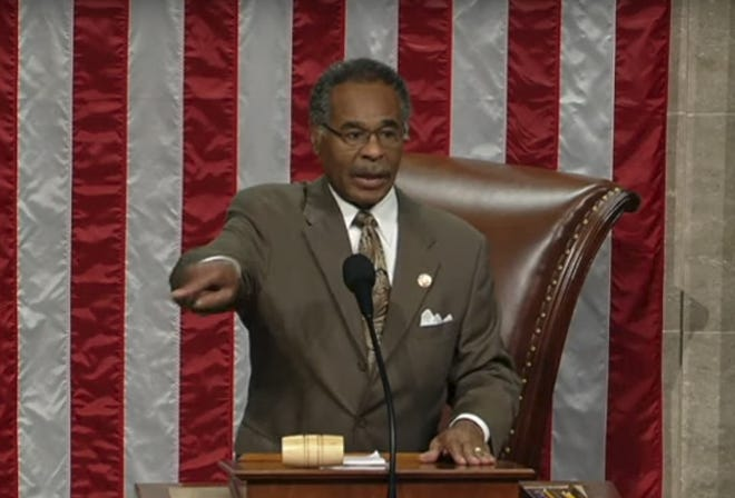 "In a move that House veterans said they had never seen before, Rep. Emanuel Cleaver II, D-Mo., said from the House speaker's chair, ""I abandon the chair,"" put down the gavel and strode off."