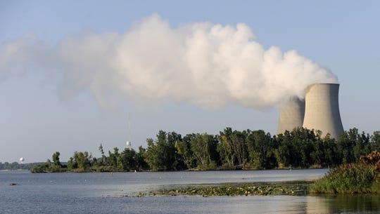 DTE's Fermi 2 plant in Monroe County's Newport, Michigan.