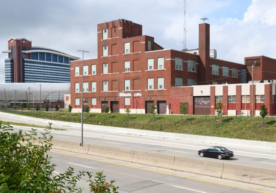 A large industrial building at 3200 Hobson, owned by the Ilitch organization, is among the vacant properties near the MotorCity Casino.