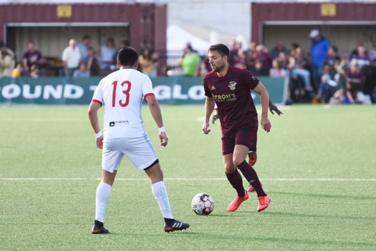 Captain and midfielder Dave Edwardson has been with Detroit City FC since 2013.