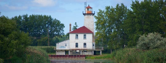 The Saginaw River Rear Range Lighthouse, which opened in 1876, is open for tours Friday and Saturday.