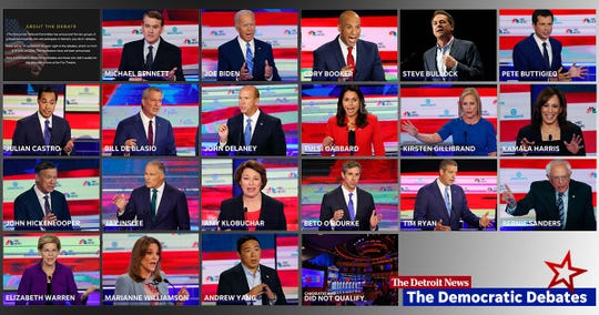 The Democratic National Committee has announced the two groups of presidential hopefuls who will participate in the July 30-31 debates at Detroit's Fox Theatre. Learn more about them.