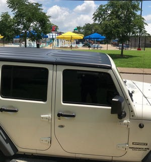 Evansville Police say a vehicle was hit by gunfire at a neighborhood pool near Downtown Evansville on Wednesday, July 17, 2019.