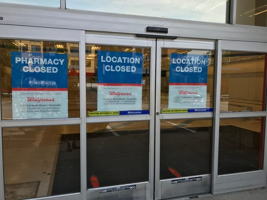 The former Rite Aid store at 1 E. Stone Ave in Greenville say closed June 3.
