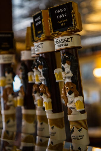 2 Basset Brewery tap handle in White Sulphur Springs