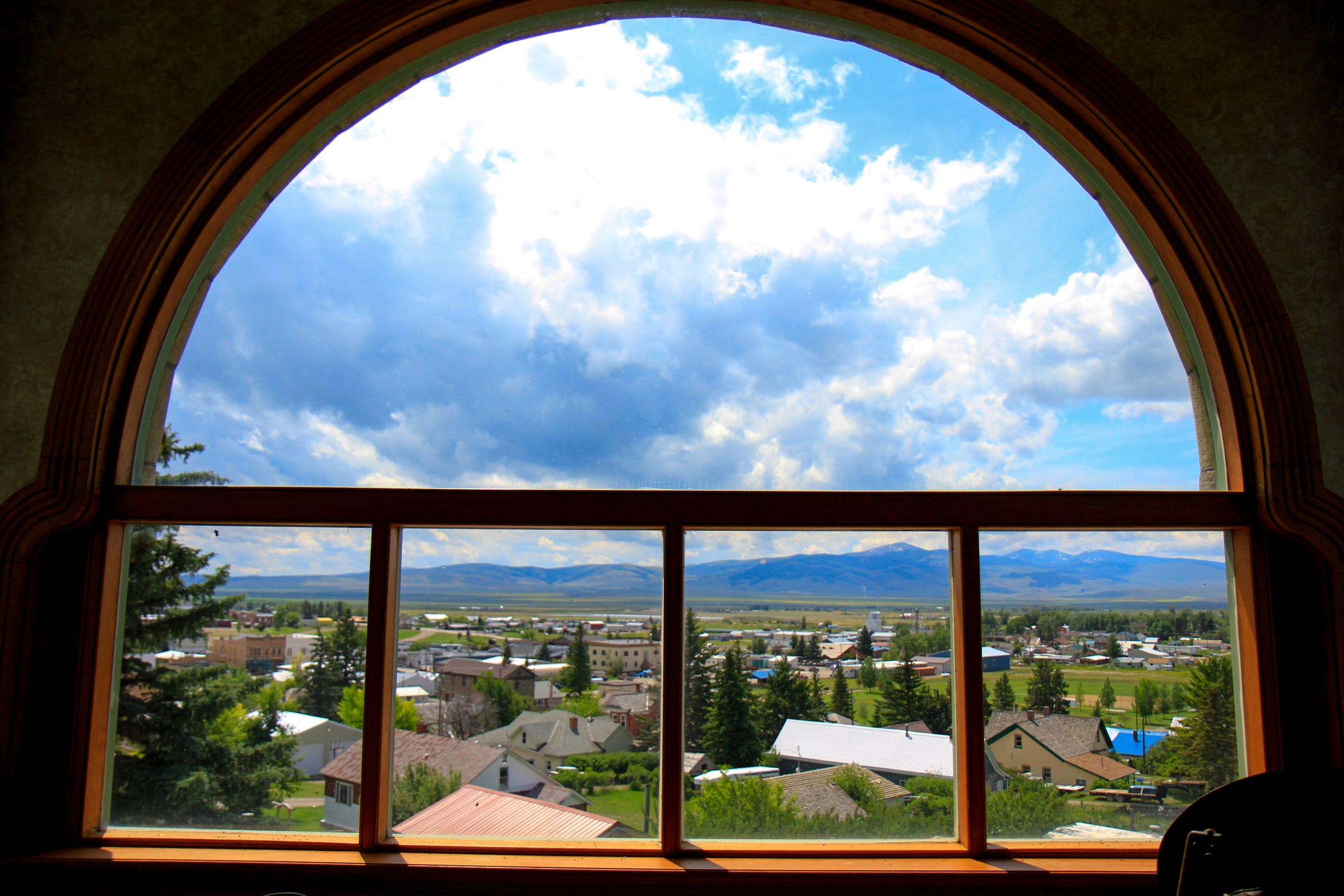 View from the music room window of the Castle Museum in White Sulphur Springs
