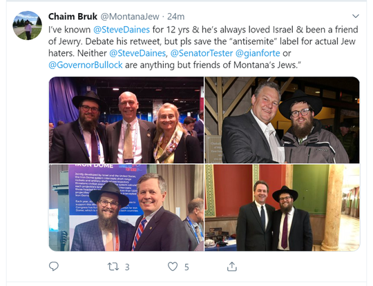 This Tweet was posted by Rabbi Chaim Bruk on Wednesday.