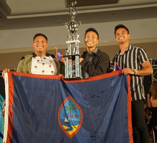 Stargazers dancers Uwel Mendiola, Michael Cajigal and Jonathan Abuel won first, second and third place in the small group division (solo).