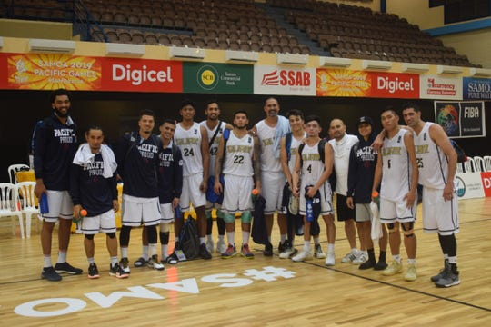 Guam cruised into the gold medal basketball match with a thorough 122-67 thrashing of Papua New Guinea Tuesday night at the Pacific Games.