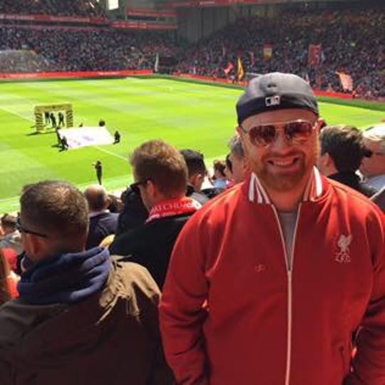 IndyStar IU Insider Zach Osterman at Liverpool's famed Anfield ground.