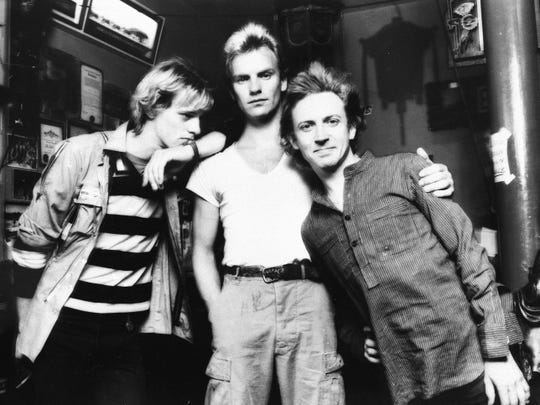 The Police (from left, Stewart Copeland, Sting and Andy Summers) released five studio albums from 1978 to 1983.