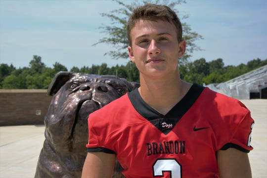 Brandon quarterback Will Rogers is a member of the 2019 Dandy Dozen.