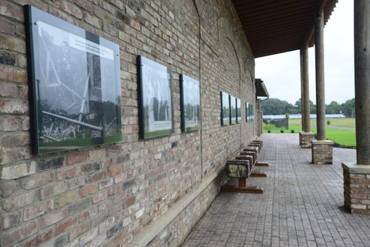 Bemis Memorial Park features a memorial wall of plaques highlighting times of the mill, its workers and the town.