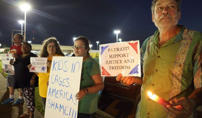 Indivisible Jackson works to advance progressive values and resist President Trump's agenda in the area. Friday, the group protested detention centers during a nationwide vigil.