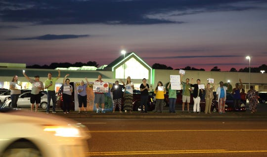 As the night fell over Jackson on July 12, more than 20 protesters came and went to Lights of Liberty: A Vigil to End Concentration Camps, a nation wide protest in nearly 600 locations against detention centers.