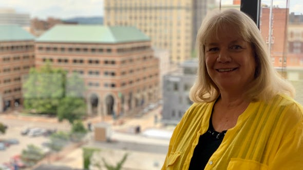 Annette Mehal, property manager of First Tennessee Plaza.