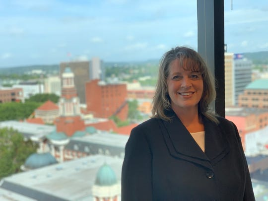 Denise Johnson, property manager at Riverview Tower in downtown Knoxville
