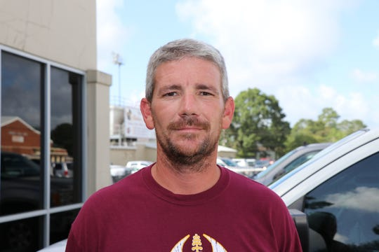 Iota football head coach Josh Andrus