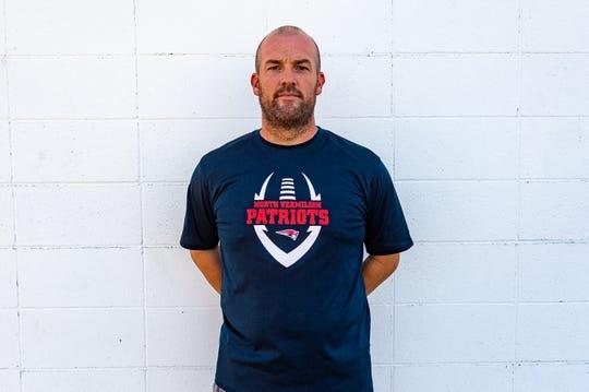 Head Coach Brett Blakely- North Vermillion Football.  Wednesday, July 17, 2019.