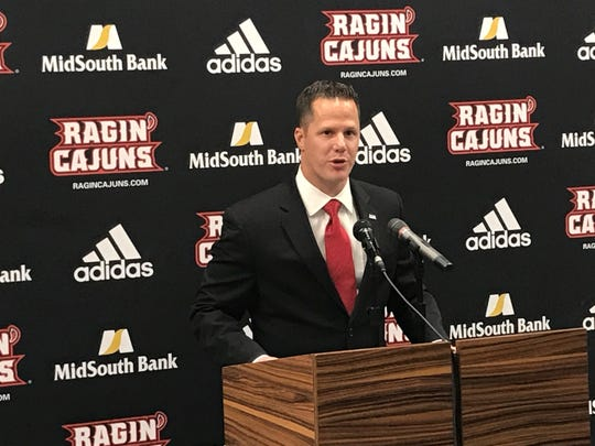The Louisiana Ragin' Cajuns introduced Lee De León as the new Executive Director of Ragin' Cajuns Athletic Foundation, Deputy Director of Athletics during a press conference  Wednesday at the Mosing Student-Athlete Performance Center Auditorium Wednesday.