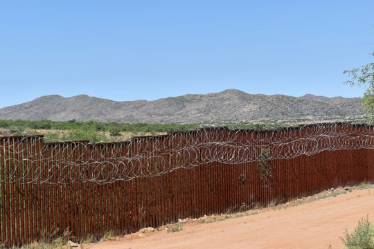 The border wall east of Sasabe, Arizona.