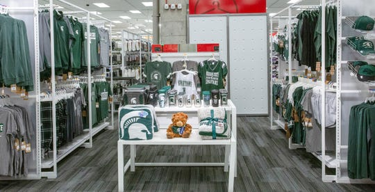 New Target Express to feature Spartan apparel and other MSU merchandise, at 201 East Grand River, East Lanisng, Tuesday, July 16, 2019.