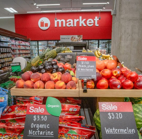 New Target Express to feature a market that includes organic and gluten free selections, 201 East Grand River, East Lansing, Tuesday, July 16, 2019.