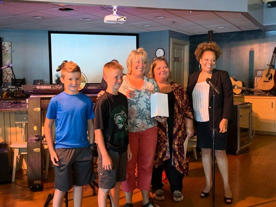 Fifth-graders from Bellville Elementary were among those honored Wednesday during the 23rd annual Earth Stewardship Celebration Awards Ceremony.