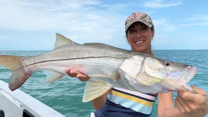 Jill Maenza was fishing with Capt. Christian Sommer.
