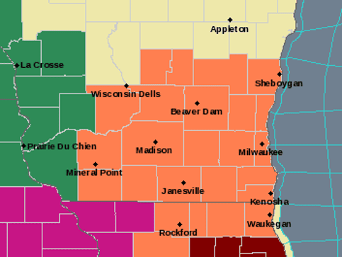 Dangerous heat set to arrive across southern Wisconsin; strong to severe storms possible Wednesday night