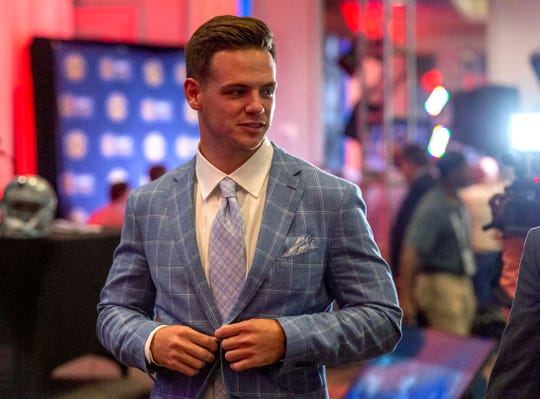 Jul 17, 2019; Birmingham, AL, USA; South Carolina Gamecocks quarterback Jake Bentley speaks with the media during SEC Media Days at the Hyatt Regency-Birmingham. Mandatory Credit: Vasha Hunt-USA TODAY Sports