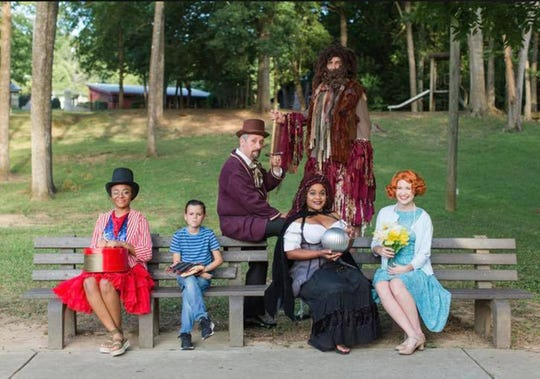 "Cast members from ""Big Fish,"" which is being presented at Wetumpka High School on July 23-27, 2019."