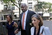 Former Auburn University assistant basketball coach Chuck Person arrives at federal court in New York for sentencing in a bribery scandal that has touched some of the biggest schools in college basketball, Wednesday, July 17, 2019.