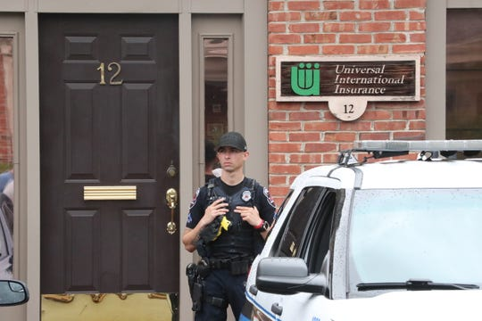 Murfreesboro police are executing a search warrant at the offices of Bill Ketron's Universal International Insurance agency Wednesday, July 17, 2019.
