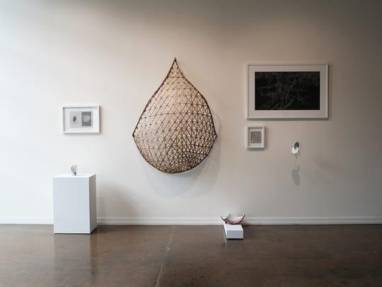 """Installation view of """"Xanadu,"""" on view at Zeitgeist Gallery."""