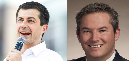 Left: Pete Buttigieg, the mayor of South Bend, Indiana. Right: Tennessee State Sen. Jeff Yarbro